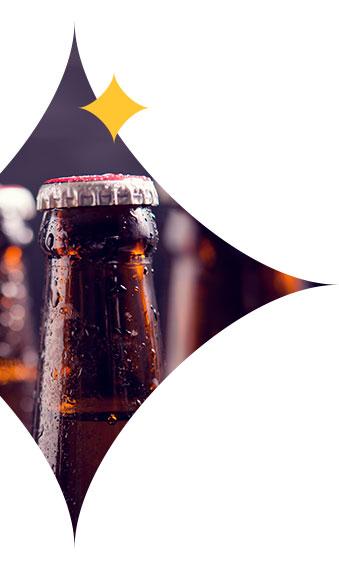 bière dans étoile