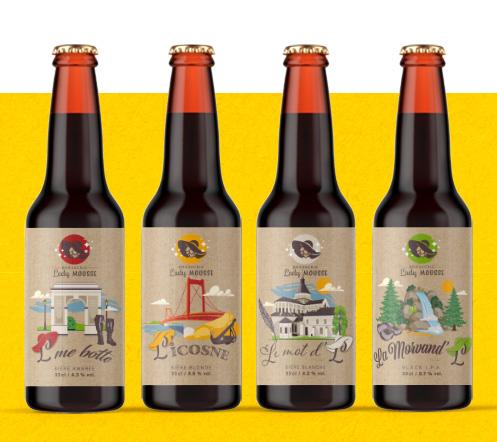 4 bières lady mousse